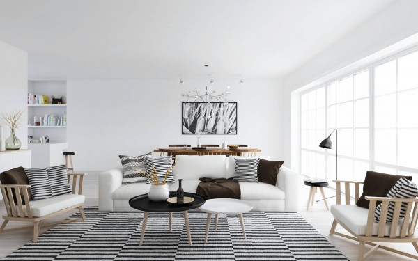 ATDesign- nordic style living in monochrome