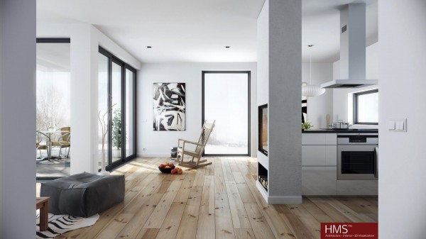 Hoang Minh- nordic style living in wood and white