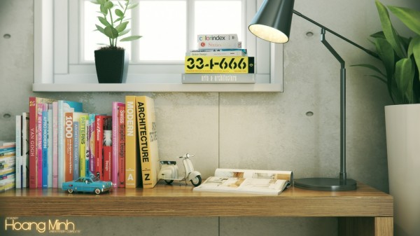 Hoang Minh- warmly styled nordic workspace