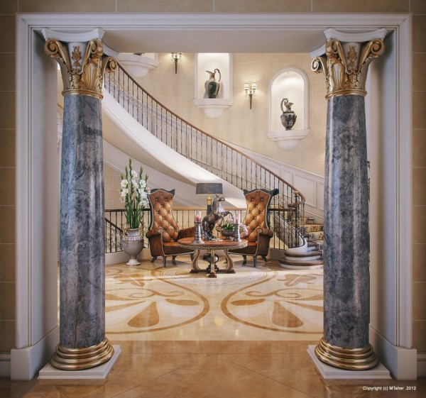luxury villa entry