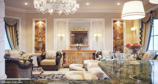 While the Villa's lounge is luxuriously appointed it feels more causal than the other rooms with leather and suede club chairs, stone block walls and contemporary barstools.