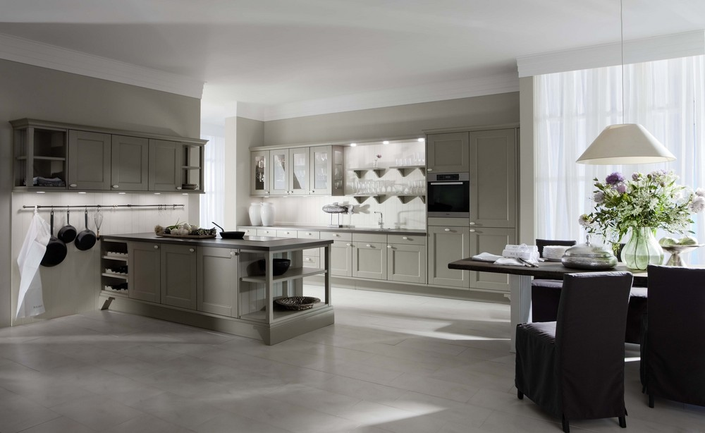 from a sleek fa?ade that has not the need for handles, the cabinets