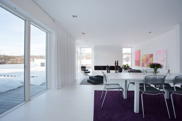 Modern Swedish Villa Dining Room 1