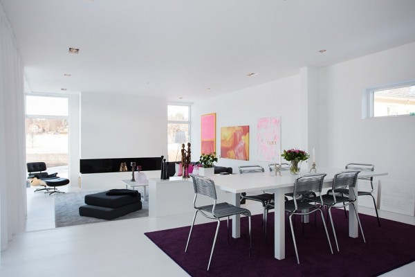 Modern Swedish Villa Dining Room 2