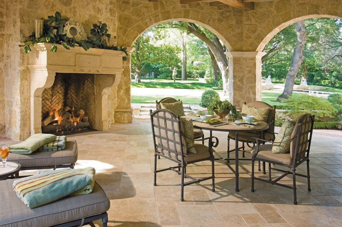 outside patio design layout