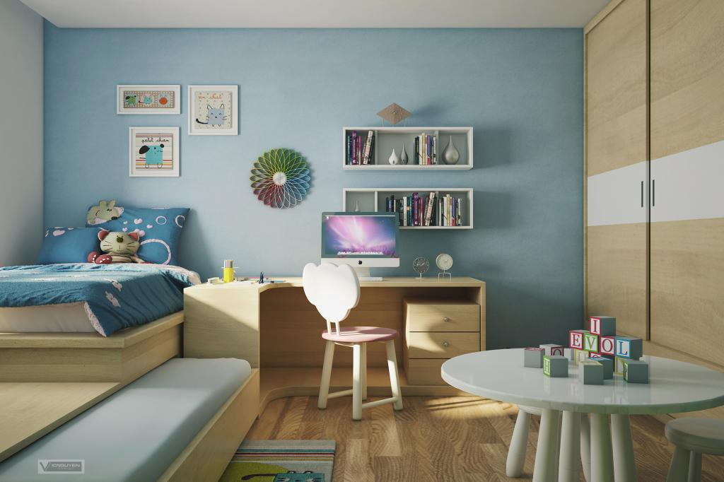 Vietnamese Apartment With Artistic Flair [Visualized] blue kids ...