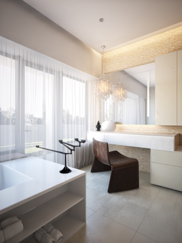 modern neutral master bathroom 1
