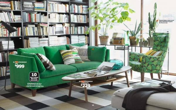 ikea green living room