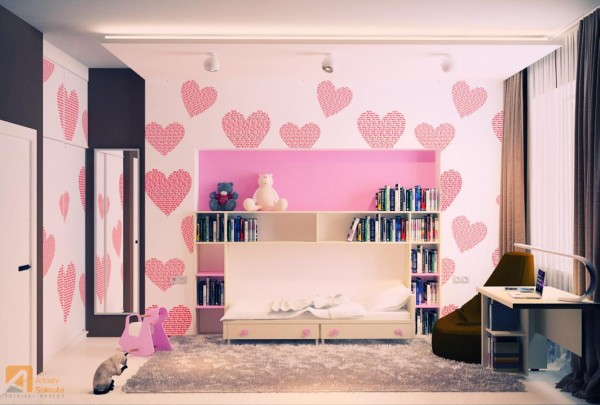 pink kids room designs