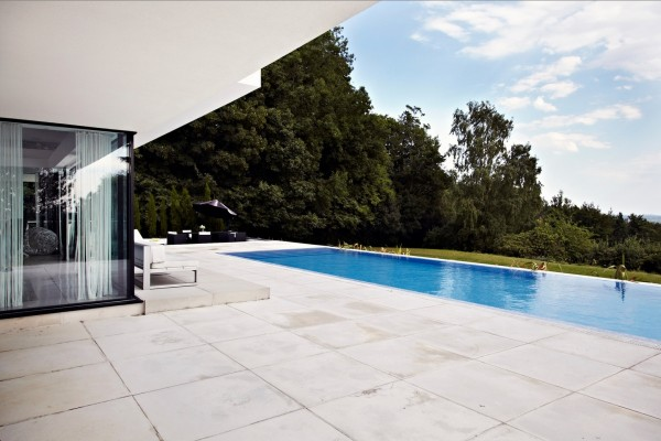 back patio and pool view