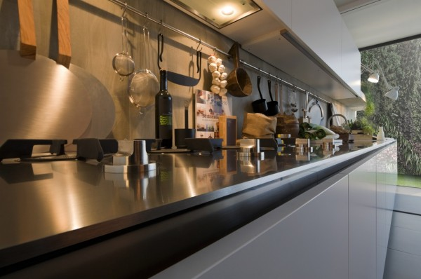 extra long kitchen counter space