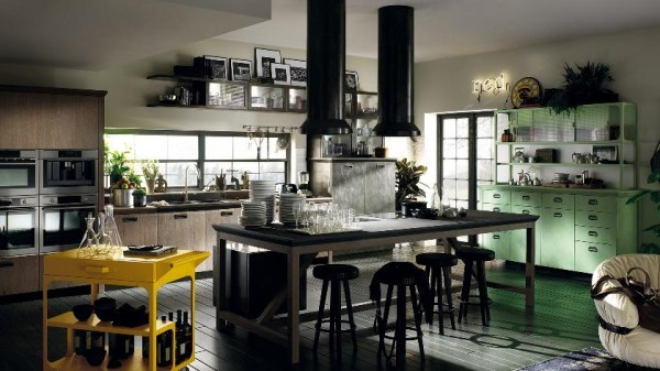 large kitchen multiple colors and finishes