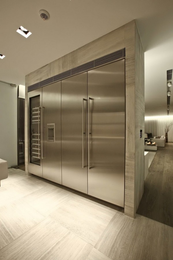 large stainless steel appliances