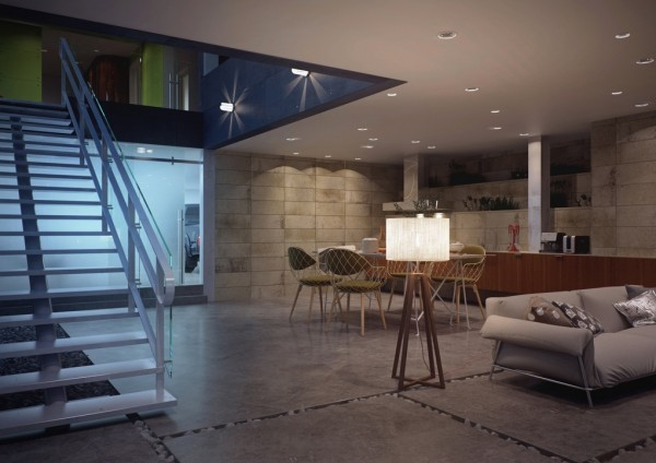 living space open to elements