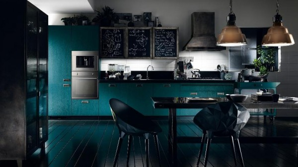 modern turquoise kitchen design