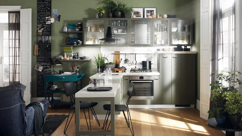 Tiny kitchens on pinterest small kitchens kitchens and for Kitchen ideas one wall