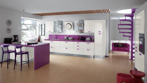 purple kitchen accent color