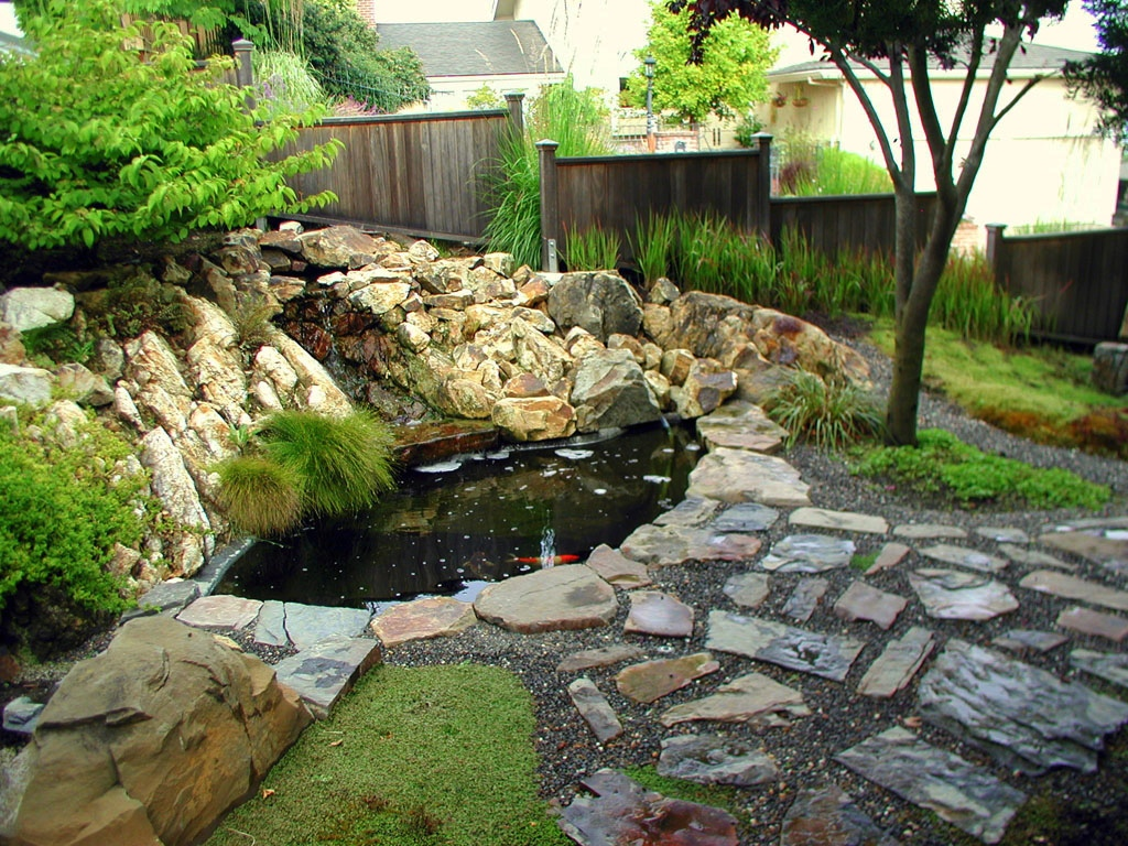 Japanese zen gardens for Koi pond design pictures