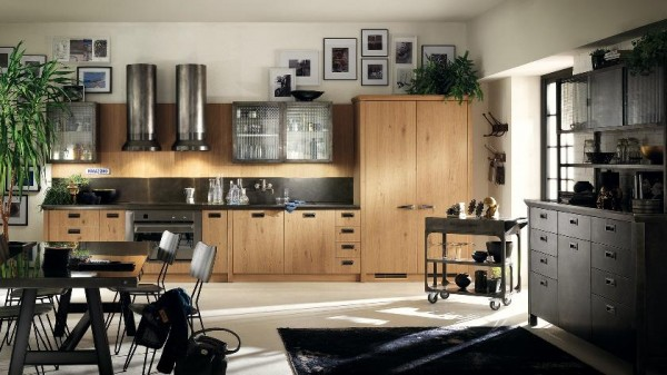 wood cabinetry large kitchen