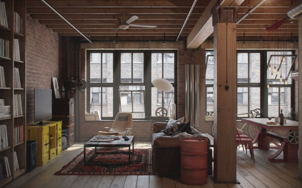 2 industrial loft windows
