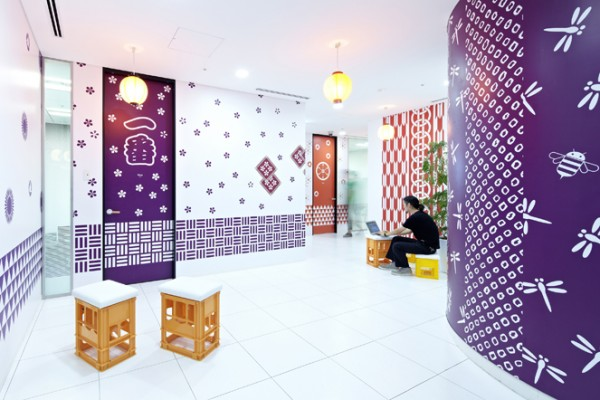 24 creative office purple walls