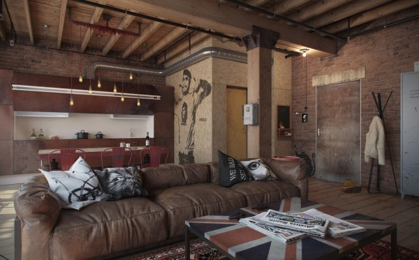 4 exposed brick loft