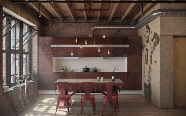 Space a home it may go without saying that this one room loft is not intended for children but it still manages to include plenty of playfulness of
