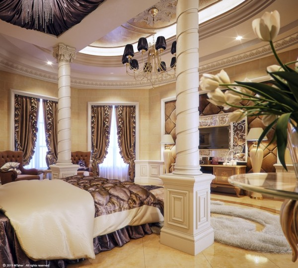 decadent white bedroom