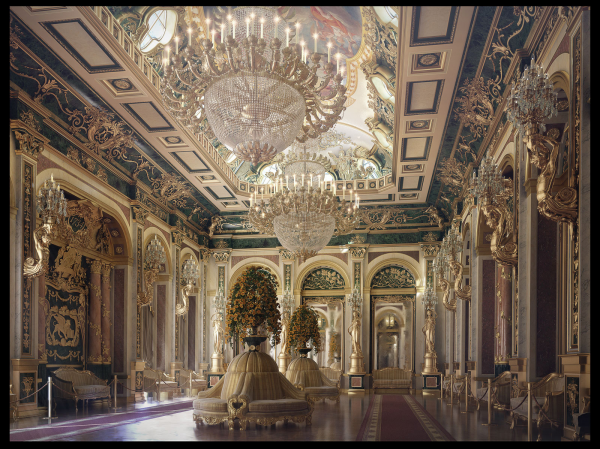 This grand entryway features all the trappings of a palace. With plenty of seating for the occasional gala and massive flower arrangements, this is truly a space for the independently wealthy with a flair for decadence. Artist Veltik took a good deal of inspiration for this space from the Palacio del Marques de Dos Aguas in Valencia, Spain.