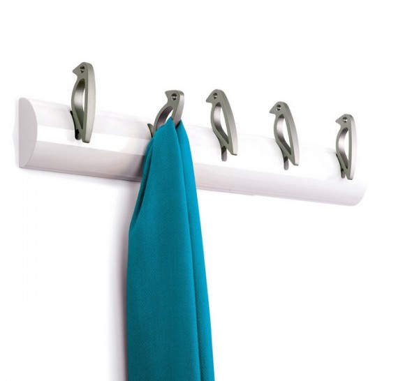 Put a bird on it? More like put it on a bird. This playful coat rack lets you and your guests hand coats and sweaters from stylish, cute bird hooks.
