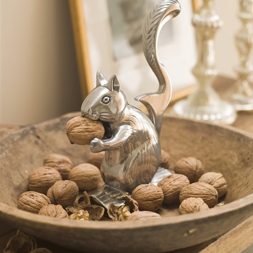 You would never want to trust a real squirrel with your nuts (or even in your house, probably) but this pewter nutcracker is perfectly polite and positively practical.