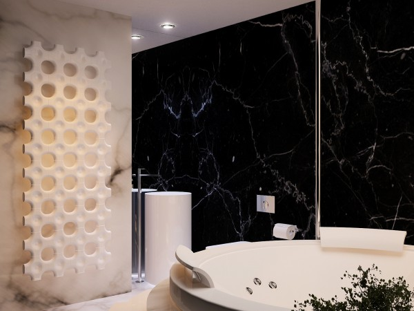 black marble wall