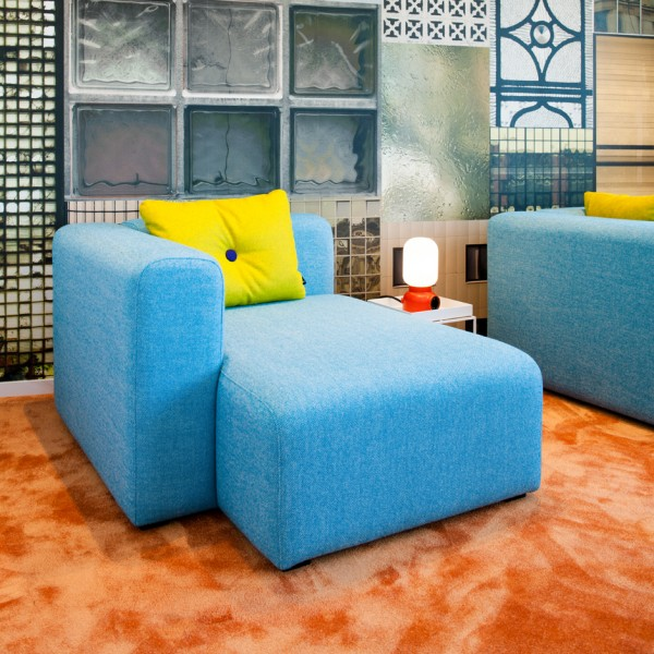 While this bright blue lounge chair may look more appropriate for an afternoon nap than a productive meeting, have comfortable spaces to sit, lounge, and relax can actually make for more productive workers.