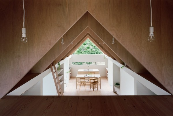 "The ""attic"" area offers privacy along with a view of the entire, clean interior of the home."