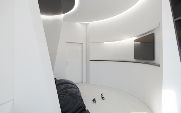 curved white wall