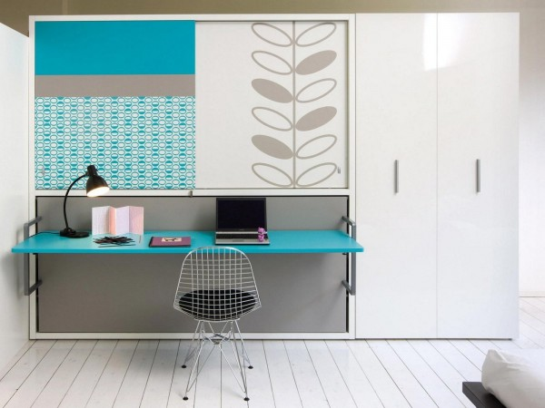 The minimalist desk may not have a lot of features, but that makes it easier to keep clean and free of distracting clutter.