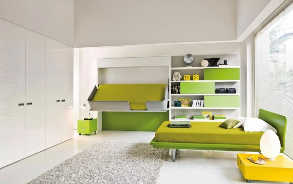 But once again a hidden bed, this time a bunk bed, creates an instant space for guests of any age.