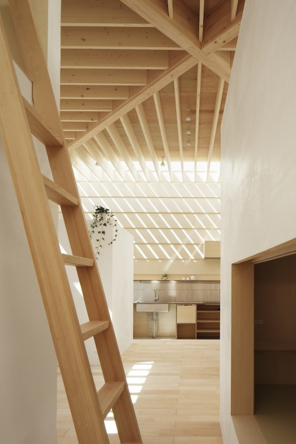 interior wooden ladder