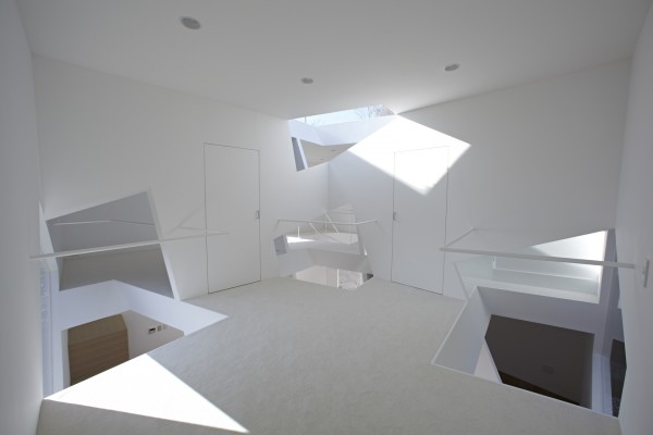 landing with skylights