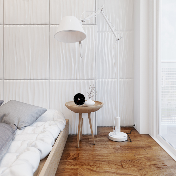 large white floorlamp