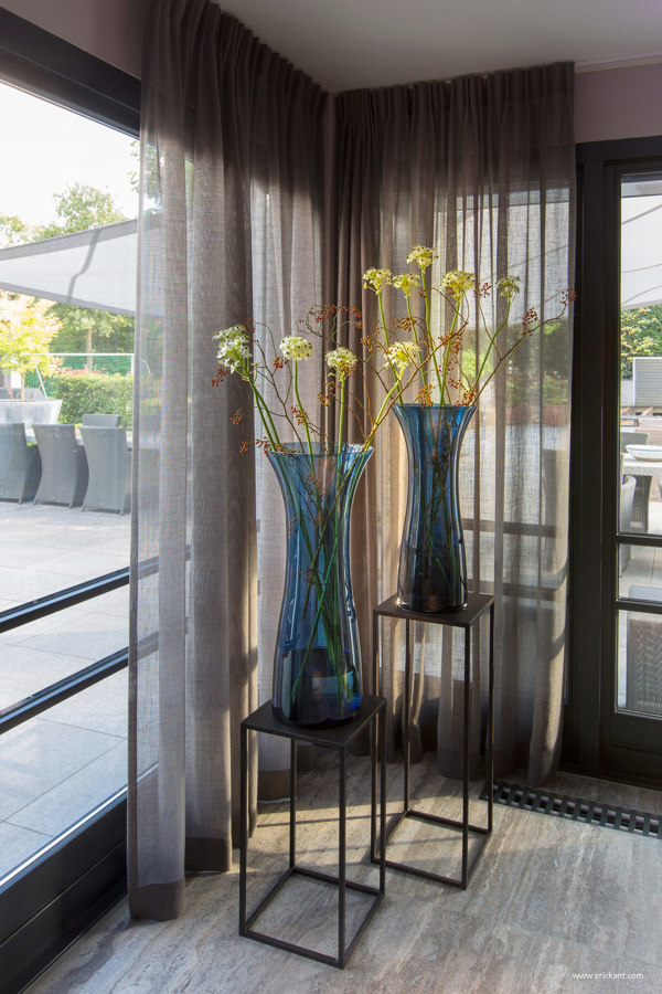 oversized teal vases