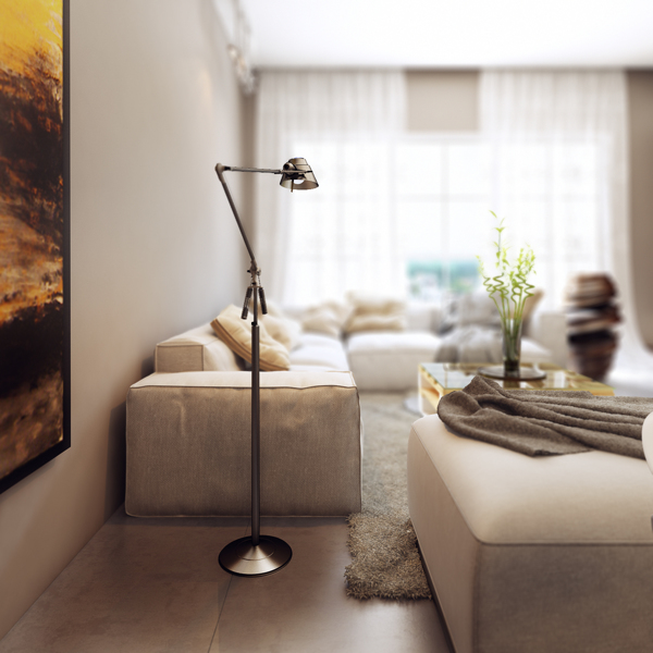 pewter floor lamp