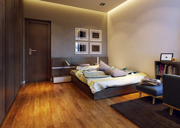 polished wood floors