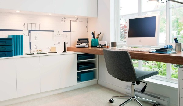 sunny office space 600x350 - Colorful Interiors