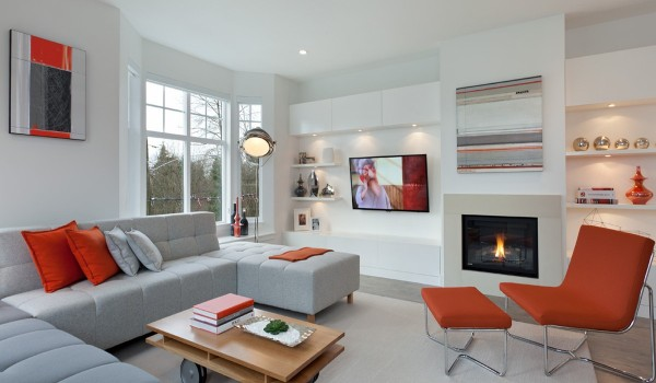 warm living area 600x350 - Colorful Interiors