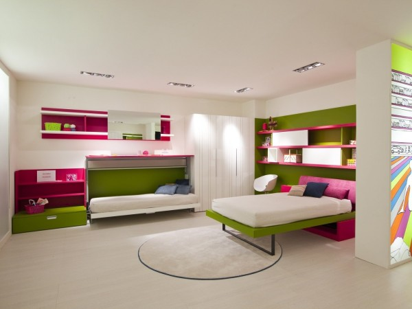 Providing proper modern shelving makes it more likely that the messiest of teens will keep the room clean.