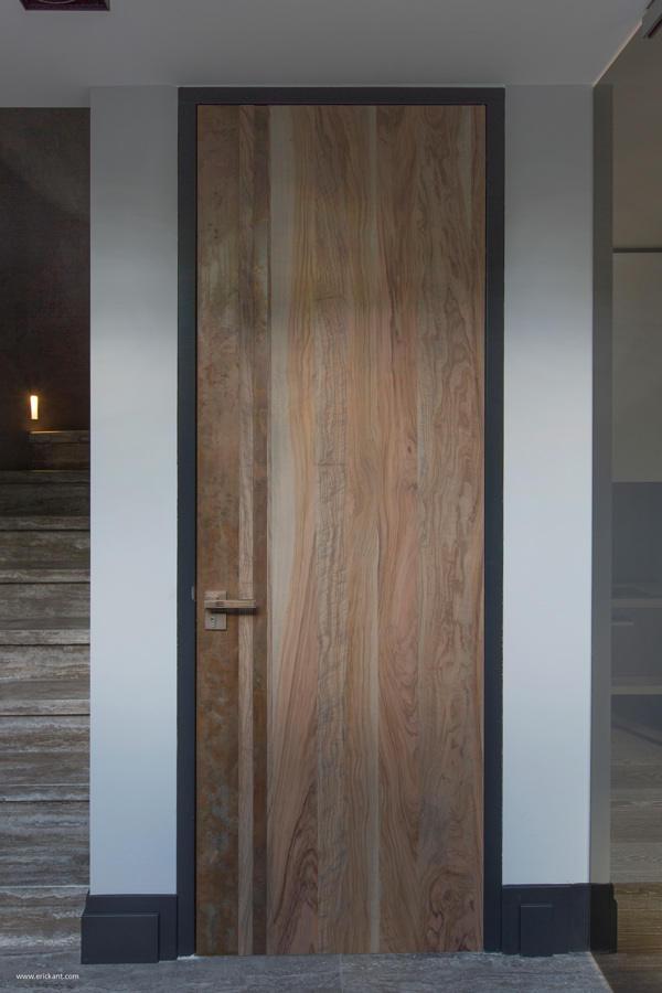 wood grain door