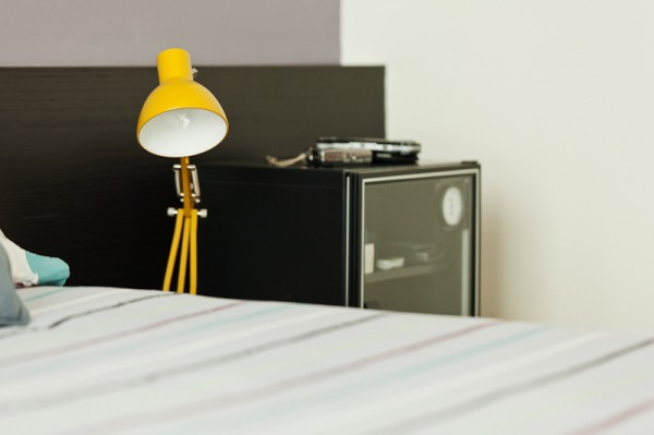 yellow bedside lamp