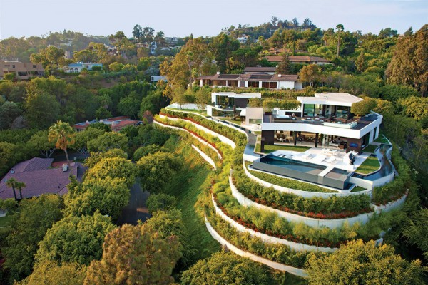 Modern architecture landscaping