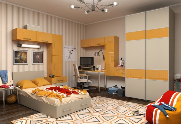1 Yellow kids room 600x412 - cute & stylish Kids Rooms